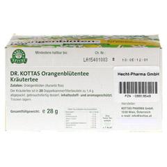 DR.KOTTAS Orangenblütentee Filterbeutel 20 Stück - Unterseite