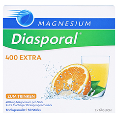 MAGNESIUM DIASPORAL 400 Extra Trinkgranulat 50 Stück - Vorderseite