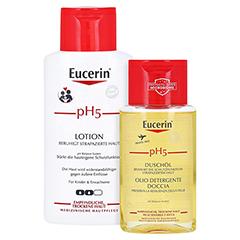 EUCERIN pH5 Lotion empfindliche Haut + gratis Eucerin pH5 Duschöl 100 ml 200 Milliliter