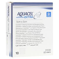 AQUACEL Ag Extra 5x5 cm Kompressen 10 Stück