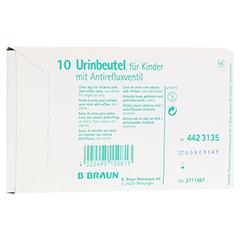 URINBEUTEL f.Kinder m.Antirefluxventil 10 Stück