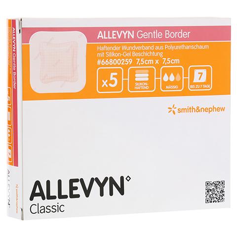 ALLEVYN Gentle Border 7,5x7,5 cm Schaumverb. 5 Stück