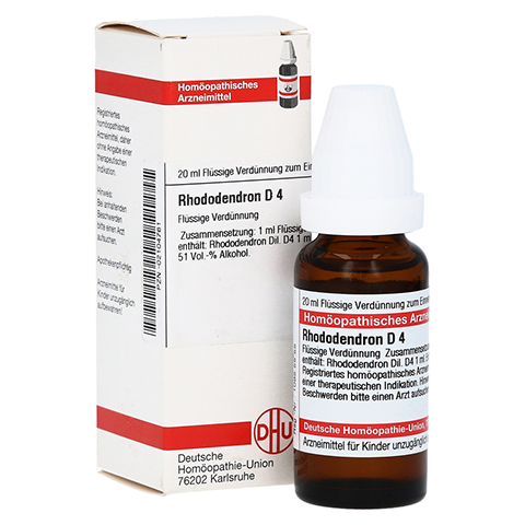 RHODODENDRON D 4 Dilution 20 Milliliter N1
