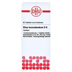 RHUS TOXICODENDRON D 6 Tabletten 80 Stück N1 - Vorderseite
