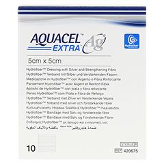 AQUACEL Ag Extra 5x5 cm Kompressen 10 Stück - Vorderseite