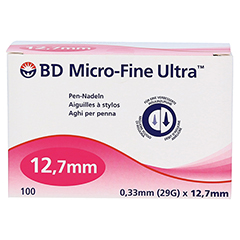 BD MICRO-FINE ULTRA Pen-Nadeln 0,33x12,7 mm CPC 100 Stück - Vorderseite