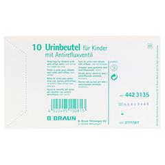 URINBEUTEL f.Kinder m.Antirefluxventil 10 Stück - Vorderseite