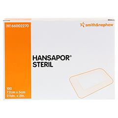 HANSAPOR steril Wundverband 5x7,2 cm 100 Stück - Vorderseite