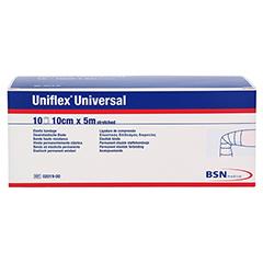 UNIFLEX Universal Binden 10 cmx5 m Zellglas weiß 10 Stück - Vorderseite