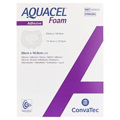 AQUACEL Foam adhäsiv Sakral 16,9x20 cm Verband 5 Stück - Vorderseite