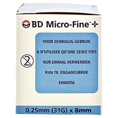 BD MICRO-FINE+ Pen-Nadeln 0,25x8 mm 100 Stück - Rechte Seite