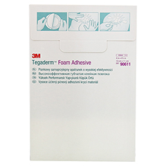 TEGADERM 3M Foam Adhesive 10x11 cm oval 90611 10 Stück - Rückseite