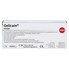 GELICAIN Gleitgel 30 Gramm - Rückseite