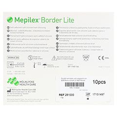 MEPILEX Border Lite Schaumverb.4x5 cm steril 10 Stück - Rückseite