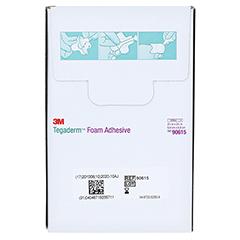TEGADERM Foam Adhesive 6,9x6,9 cm kreuzform 90615 10 Stück - Rückseite