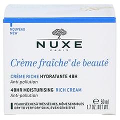 NUXE Creme fraiche de beaute Reichhaltige 48h Feuchtigkeitscreme 50 Milliliter - Rückseite