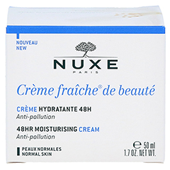NUXE Creme fraiche de beaute 48h Feuchtigkeitscreme 50 Milliliter - Rückseite