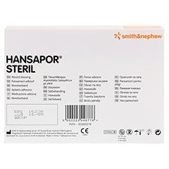 HANSAPOR steril Wundverband 5x7,2 cm 100 Stück - Rückseite