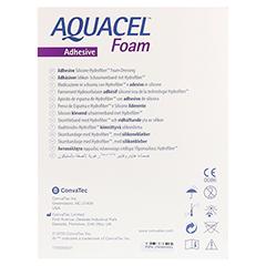 AQUACEL Foam adhäsiv Sakral 16,9x20 cm Verband 5 Stück - Rückseite