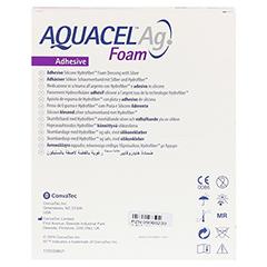 AQUACEL Ag Foam adhäsiv 12,5x12,5 cm Verband 10 Stück - Rückseite