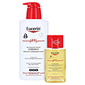 EUCERIN pH5 Lotion F empfindliche Haut m.Pumpe + gratis Eucerin pH5 Duschöl 100 ml 400 Milliliter