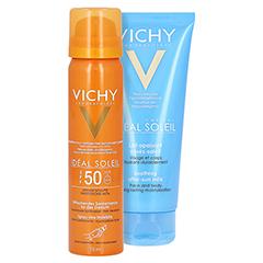 Vichy Ideal Soleil Sonnenspray für das Gesicht LSF 50 + gratis Vichy Ideal Soleil After-Sun 75 Milliliter