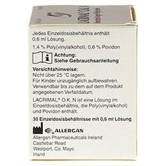 LACRIMAL O.K. N Augentropfen 30x0.6 Milliliter - Rechte Seite