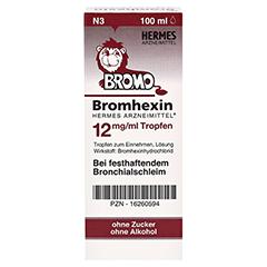 Bromhexin Hermes Arzneimittel 12mg/ml 100 Milliliter N3 - Rückseite