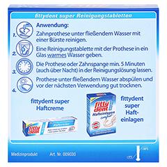 FITTYDENT super Reinigungstabletten 32 Stück - Rückseite