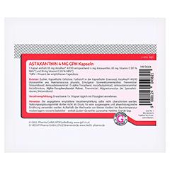 ASTAXANTHIN 4 mg GPH Kapseln 180 Stück - Rückseite