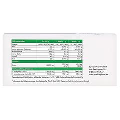 SYMBIOLACT pur Nahrungsergänzungsmittel Pulver 3x30 Gramm - Rückseite