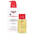 EUCERIN pH5 Waschlotion empfindliche Haut m.Pumpe + gratis Eucerin pH5 Duschöl 100 ml 400 Milliliter