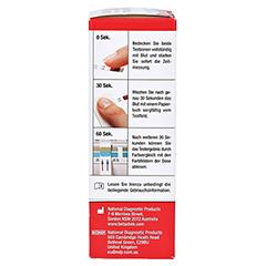 GLUCOFLEX R Glucose Teststreifen 25 Stück - Rechte Seite