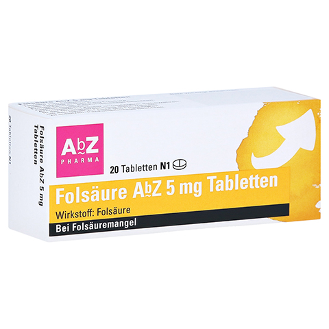 Folsäure AbZ 5mg 20 Stück N1