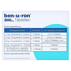 Ben-u-ron 500mg 20 Stück N2 - Rückseite