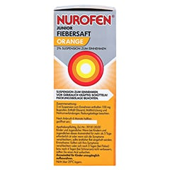 Nurofen Junior Fiebersaft Orange 2% 100 Milliliter N1 - Linke Seite