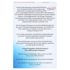 Doppelherz aktiv Seefischöl Omega-3 1.000 mg + Folsäure + B1 + B6 + B12 Kapseln 120 Stück - Rückseite