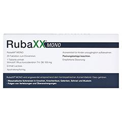 RUBAXX Mono Tabletten 20 Stück - Rückseite
