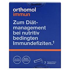 Orthomol Immun Direktgranulat Menthol-Himbeere 7 Stück - Vorderseite
