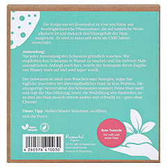 Rosental Organics Natürlicher Konjac Detox Schwamm ROTE TONERDE 1 Stück - Rückseite