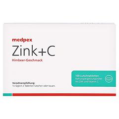 medpex Zink+C Himbeer 100 Stück - Vorderseite