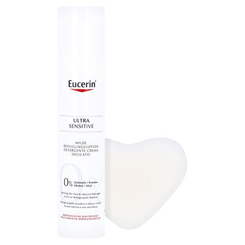 Eucerin UltraSensitive Reinigungslotion + gratis Konjac-Schwamm 100 Milliliter