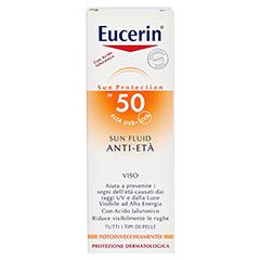 EUCERIN Sun Fluid Anti-Age LSF 50 50 Milliliter - Rückseite