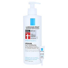 La Roche-Posay Lipikar Lotion Rückfettende Körperlotion + gratis La Roche-Posay Toleriane Ultra Auge 2 ml 400 Milliliter