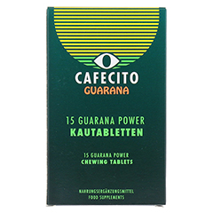 GUARANA CAFECITO Kautabletten 15 Stück - Vorderseite