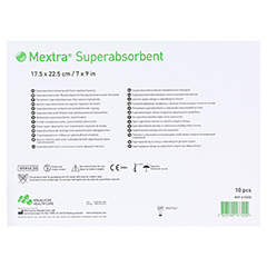 MEXTRA Superabsorbent Verband 17,5x22,5 cm 10 Stück - Rückseite