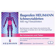 Ibuprofen Heumann Schmerztabletten 400mg 20 Stück - Vorderseite
