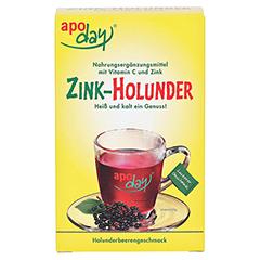Apoday Holunder Zink Vitamin C ohne Zuckerzusatz 10x10 Gramm - Vorderseite