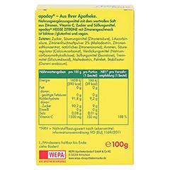 Apoday Heisse Zitrone mit Vitamin C 10x10 Gramm - Rückseite