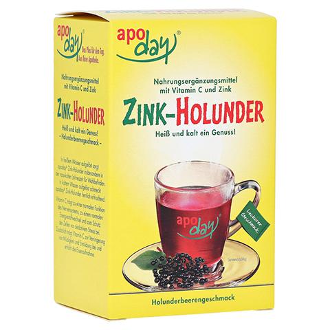 Apoday Holunder Zink Vitamin C ohne Zuckerzusatz 10x10 Gramm